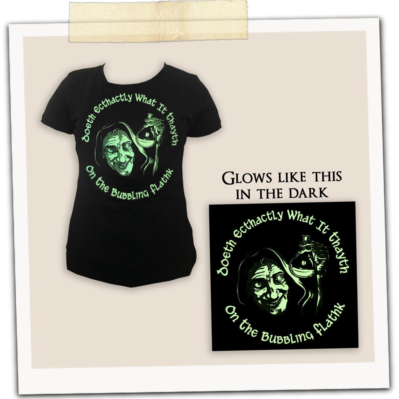 IDWCon 2019 Glow-in-the-Dark Shirt (Ladies' Fit)